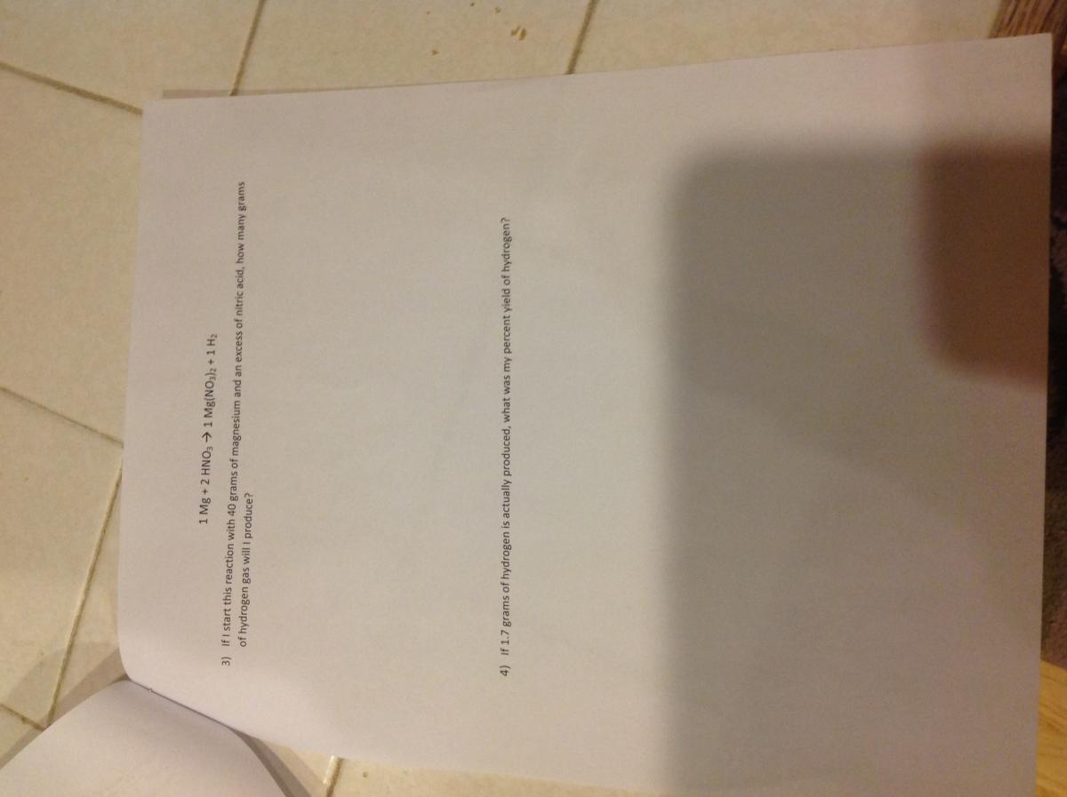 Stoichiometry homework help